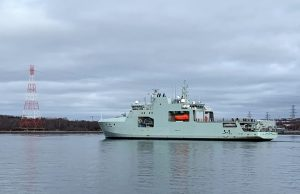 HMCS Harry DeWolf underway