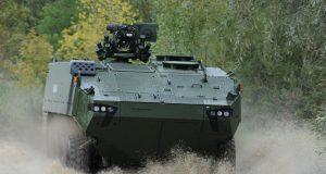 Piranha 5 wheeled armored vehicle