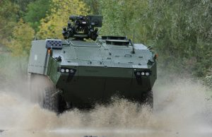 Piranha 5 wheeled armored vehicle