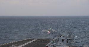 Super Hornet, takes off from the flight deck of USS Harry S. Truman (CVN 75)