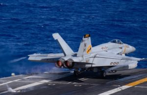 Super Hornet taking off from USS Theodore Roosevelt