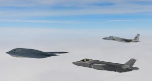 B-2A with F-35