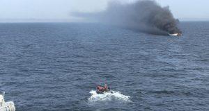 USS Ross crew rescuing Turkish mariners
