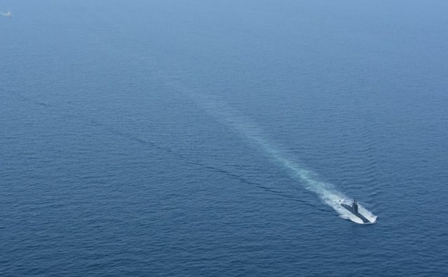 Egyptian Navy submarine S43 in the English Channel