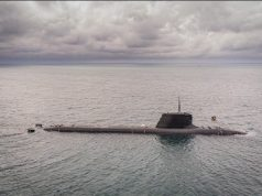 French Navy submarine FS Suffren during sea trials