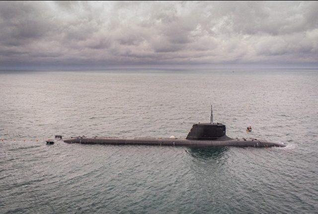 French Navy submarine FS Suffren during sea trials