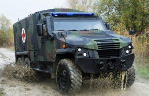 "Eagle 6x6 in the ""mittleres geschütztes Ambulanzfahrzeug"" configuration"