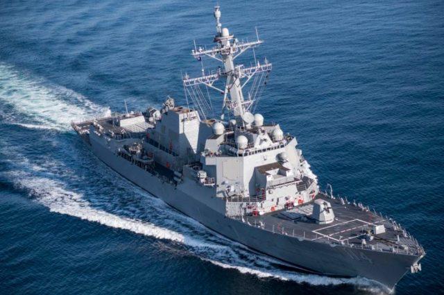 USS Ralph Johnson (DDG 114) during sea trials
