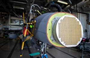 Gripen D fighter with X-band AESA radar