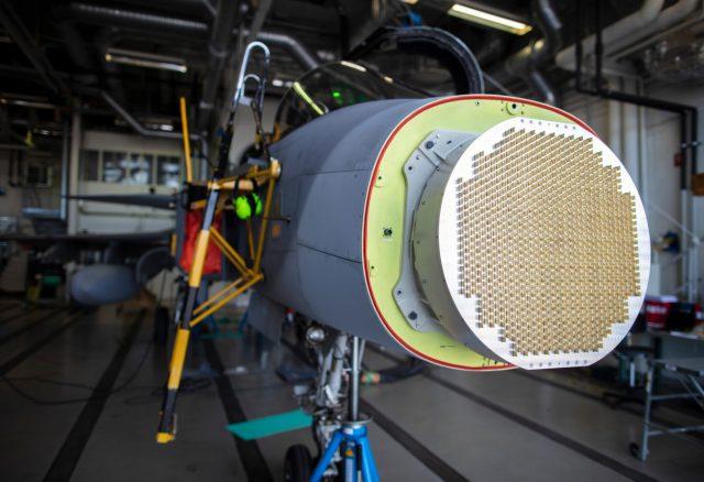 Gripen D fighter with X-band AESA radar