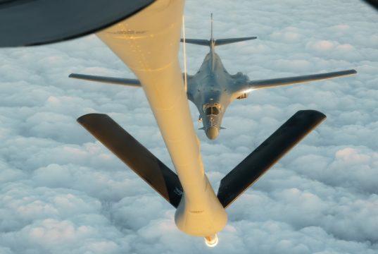B-1B Lancer refueling