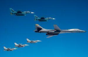 Bomber Task Force mission over Japan