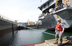 USS Carl Vinson in dry dock