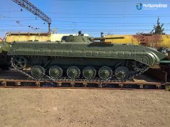 BMP-1 on a train