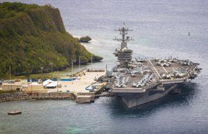 USS Theodore Roosevelt in Guam