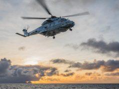 NH90 flying from HNoMS Fridtjof Nansen