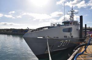 Kiribati's Guardian-class patrol boat Teanoai II