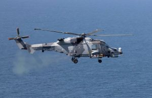 Royal Navy Wildcat with Martlet missiles
