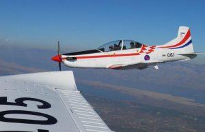Croatian Air Force Zlin training aircraft