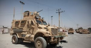 Maxxpro MRAP vehicle in Kabul