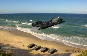 Stern landing vessel