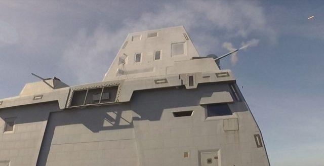 USS Zumwalt Mark 46 MOD 2 gun weapon system live-fire