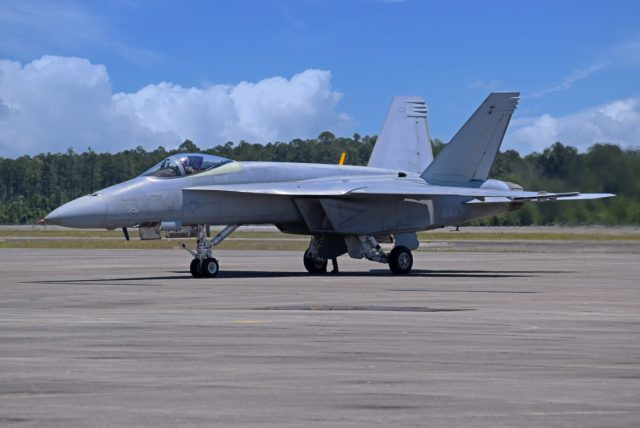 Unpainted Super Hornet for the Blue Angels