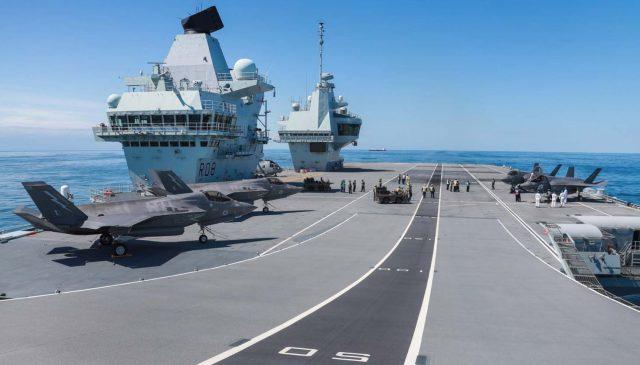 F-35B jets onboard HMS Queen Elizabeth