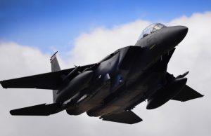 F-15C over RAF Lakenheath