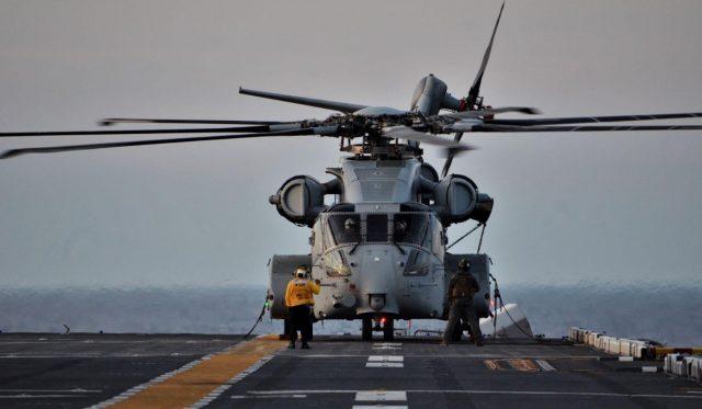 CH-53K King Stallion aboard USS Wasp