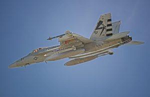 AARGM-ER missile on an F/A-18 Super Hornet