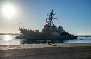 USS Carney in Rota, Spain