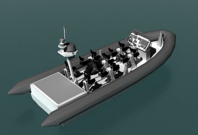 Zodiac boat for Canadian Halifax-class frigates