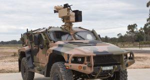 Hawkei vehicle with an EOS RWS