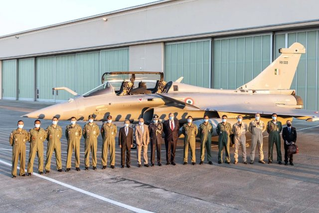 IAF pilots with Rafale fighter
