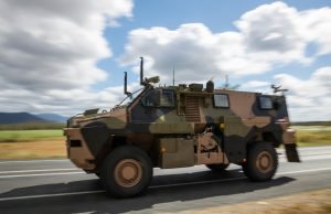 Bushmaster protected vehicle