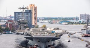 USS Harry S. Truman (CVN 75) arrived at Norfolk Naval Shipyard July 7, 2020