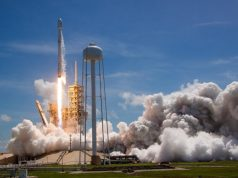 Falcon 9 rocket taking off from Launch Complex 39A at NASA's Kennedy Space Center June 23, 2017.