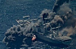 Ex-USS Durham sunk by missiles during RIMPAC 2020