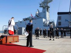 HMS Trent commissioning