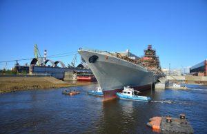 Kirov-class battlecruiser Admiral Nakhimov during its overhaul