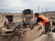 US Army robotic combat vehicle demos