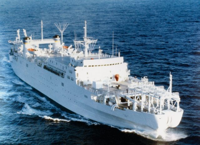 Cable-laying ship USNS Zeus