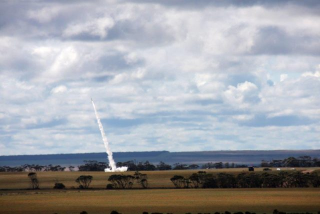 Australian Dart rocket launch