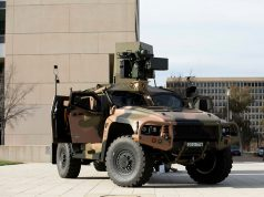 Hawkei protected vehicle with EOS RWS