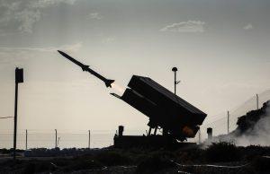 AIM-120B AMRAAM missile launch