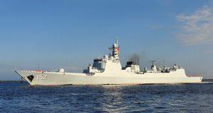 Chinese Luyang II-class destroyer Jinan (DDG 152)