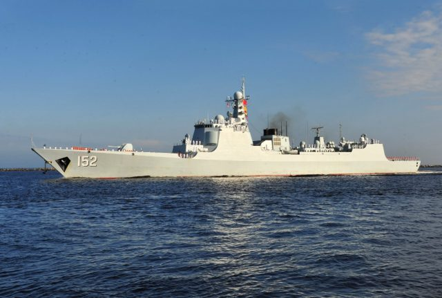 Chinese Luyang II-class destroyer Jinan (DDG 152)