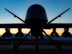 MQ-9 Reaper with eight Hellfire missiles