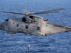 Royal Navy Merlin with Thales dipping sonar